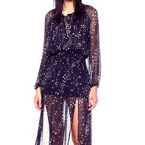 LOVESHACKFANCY Smocked Maxi Dress -Size Small